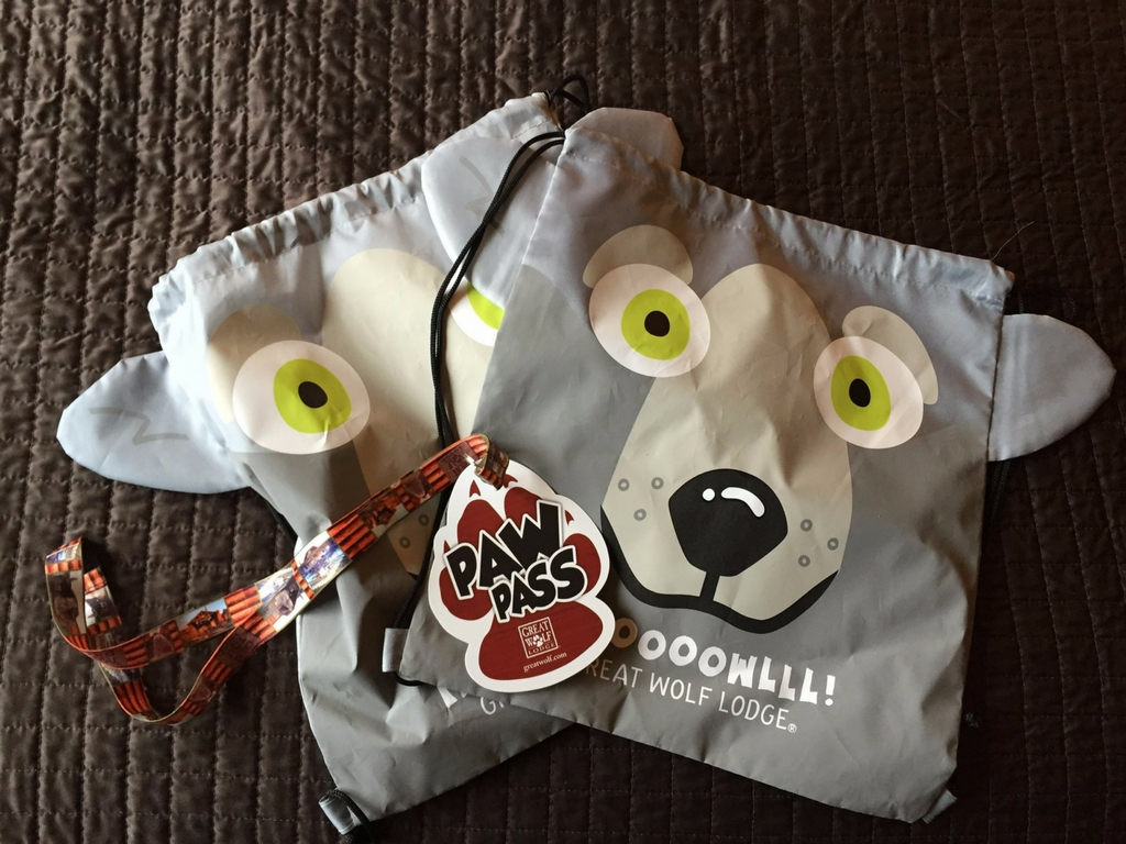 Paw pass and drawstring wolf bag
