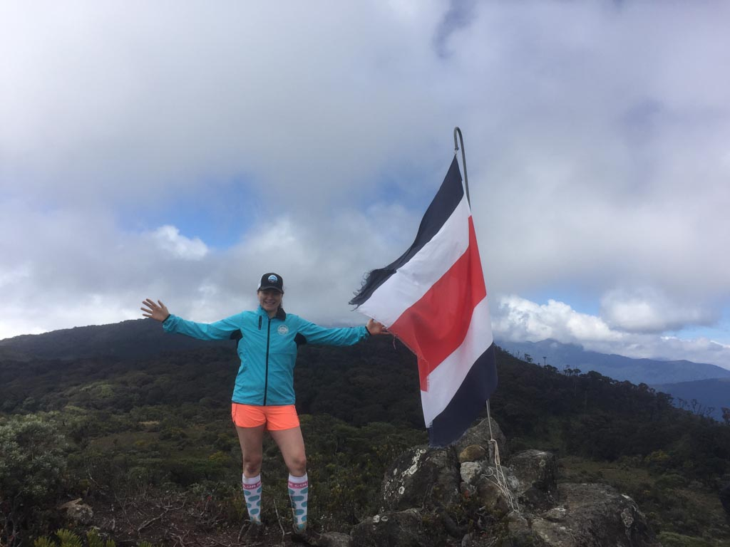 woman hiking in costa rica