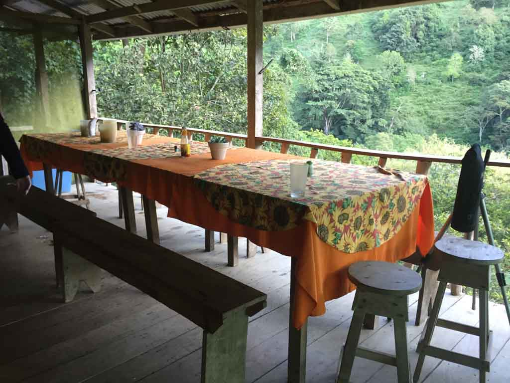 dining table all ready for breakfast at the Run Like a Girl Adventure and Wellness Retreat in Costa Rica