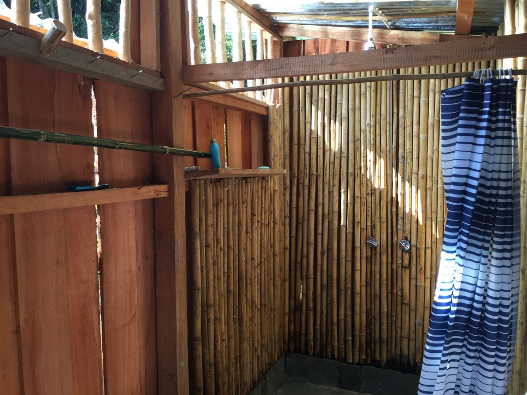 outside shower at the Run Like a Girl Adventure and Wellness Retreat in Costa Rica