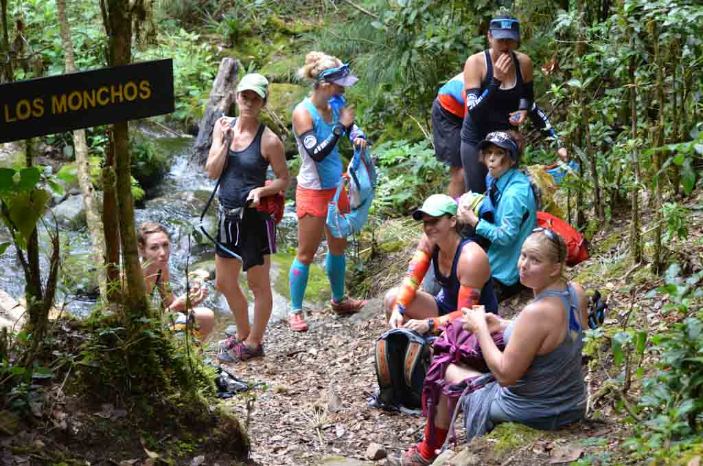 group of hikers in the jungle of costa rica