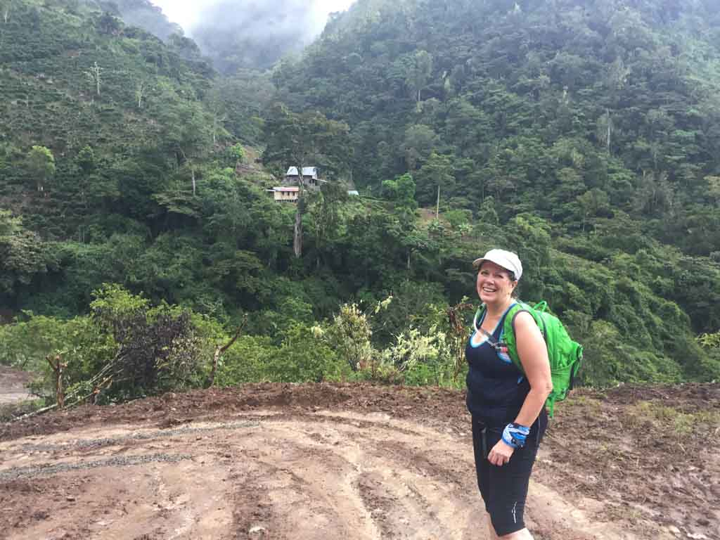 hiking up to the Run Like a Girl Adventure and Wellness Retreat in Costa Rica