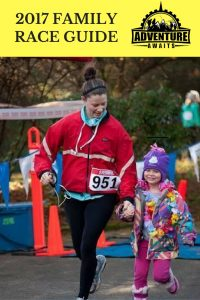mom and daughter running a race together