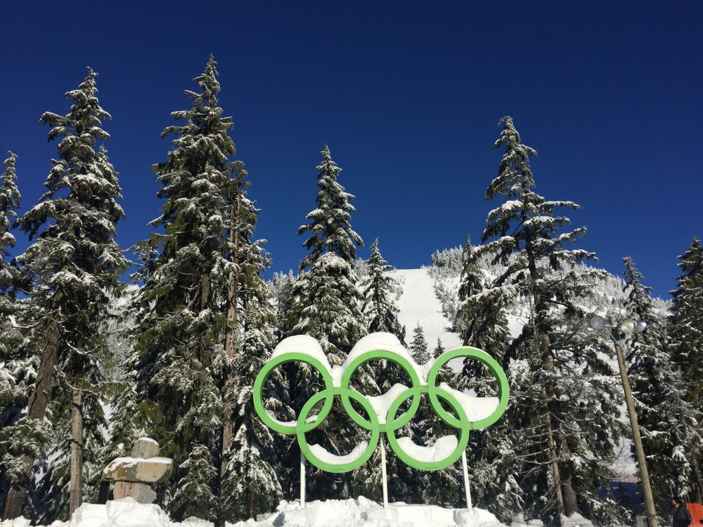 olympic rings on cypress mountain