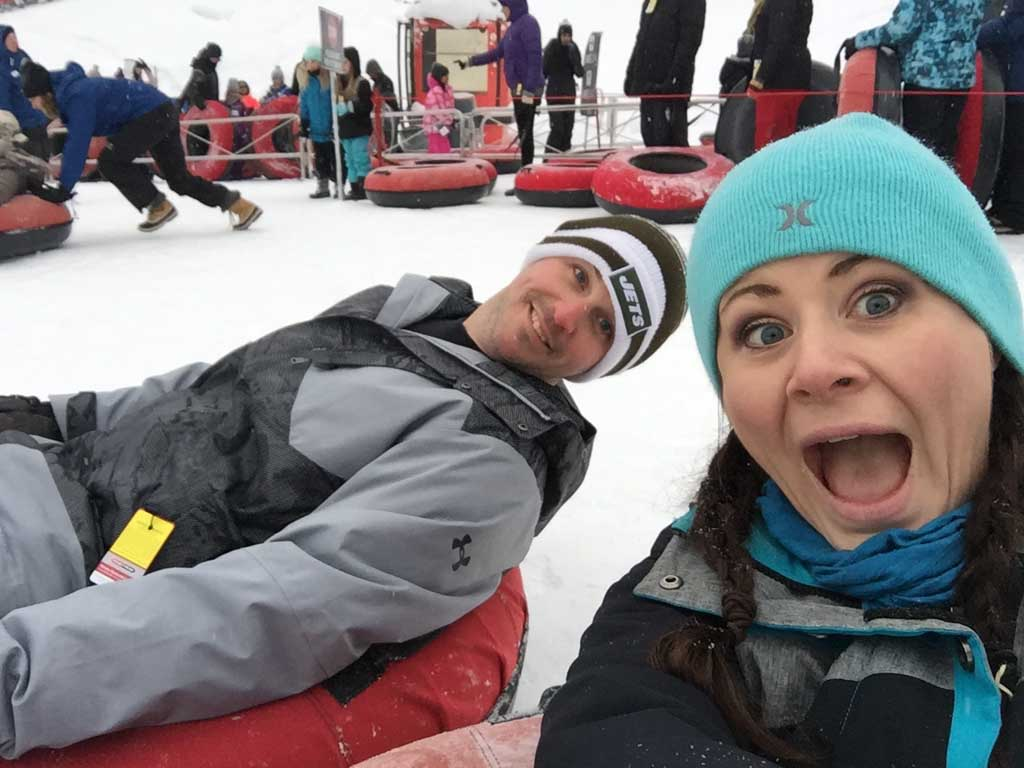 parents at whistler tube park