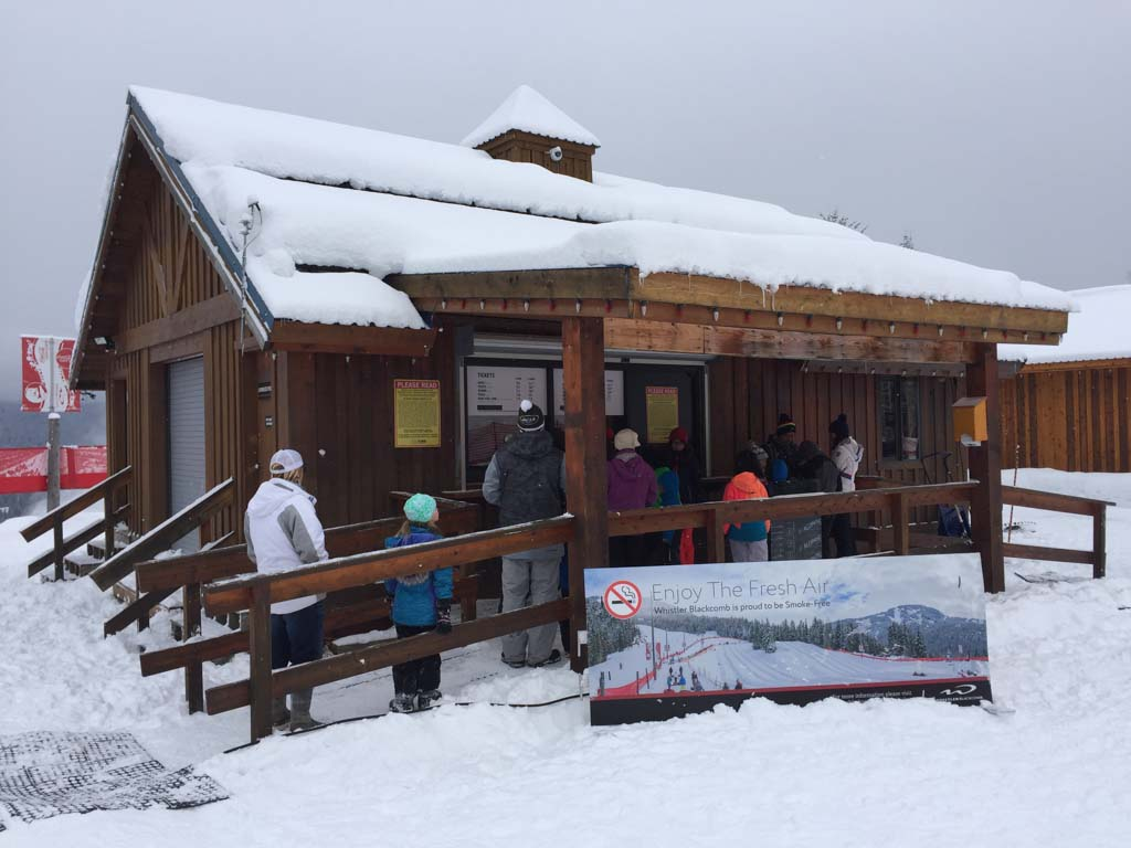 cashier building to buy tickets for whistler tube park