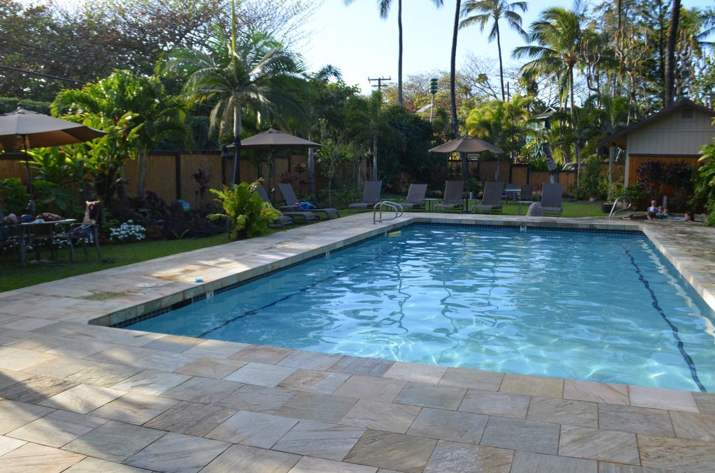 pool at the hanalei colony resort