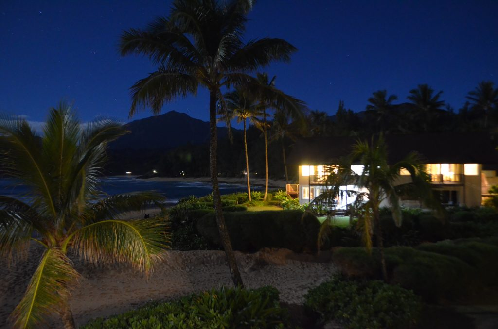 sunset view from the hanalei colony resort
