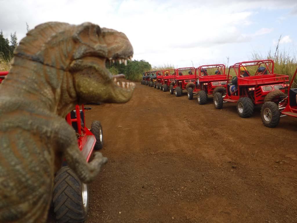 T-rex on the Kauai ATV tour