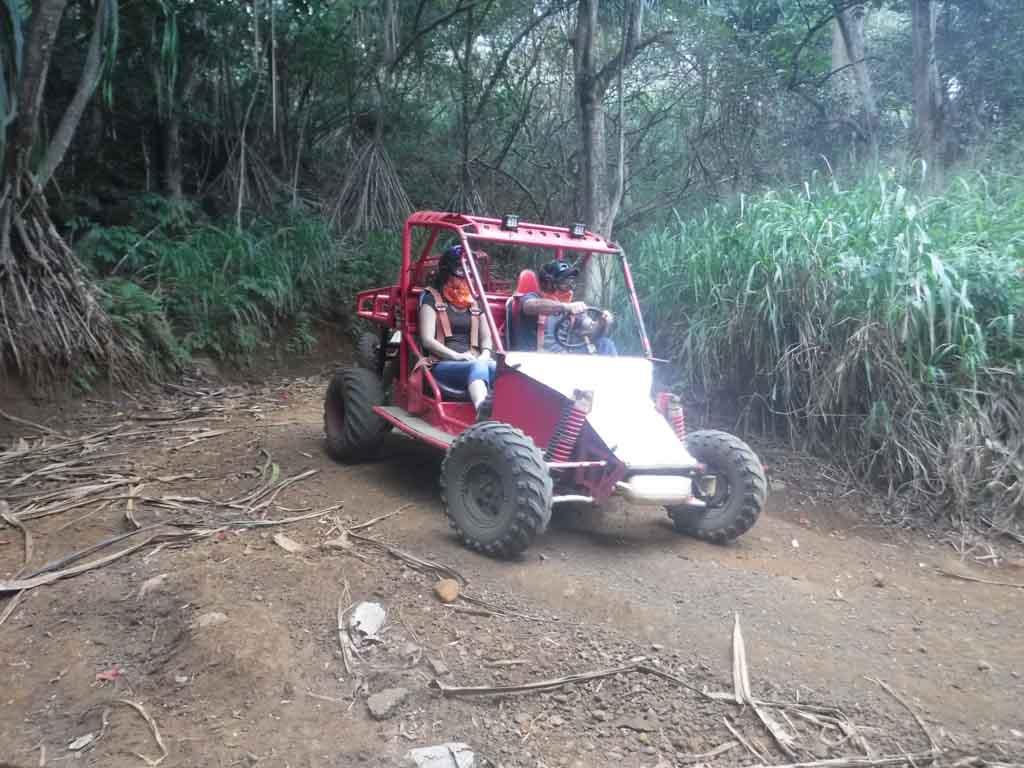 Family on a Kauai ATV tour