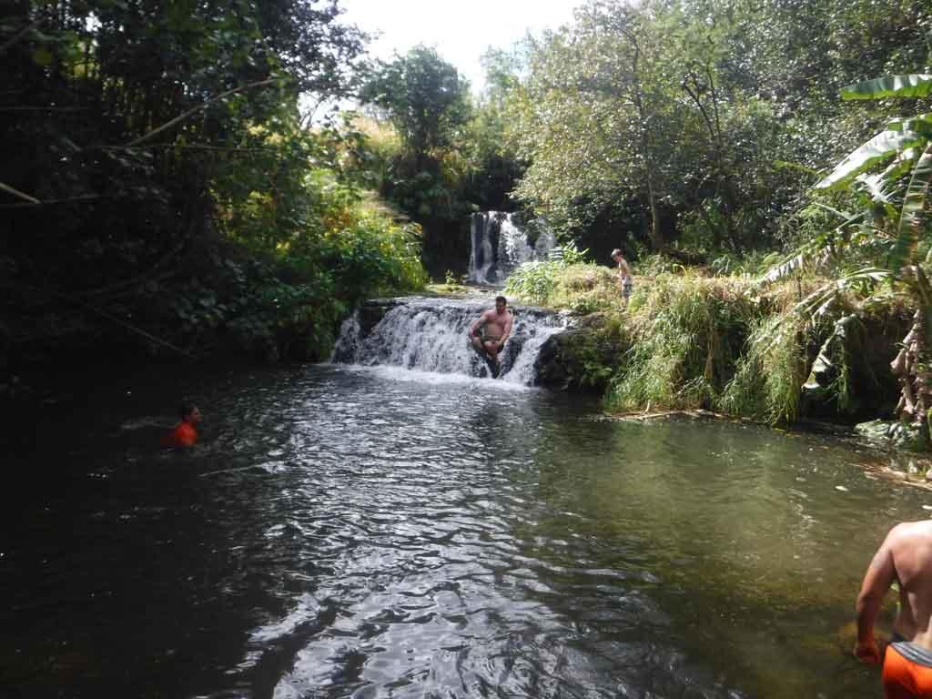 Kauai ATV tour waterfall stop