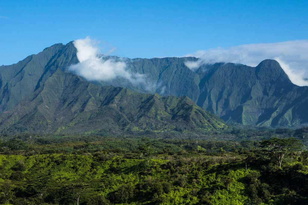Large mountain in Kauai