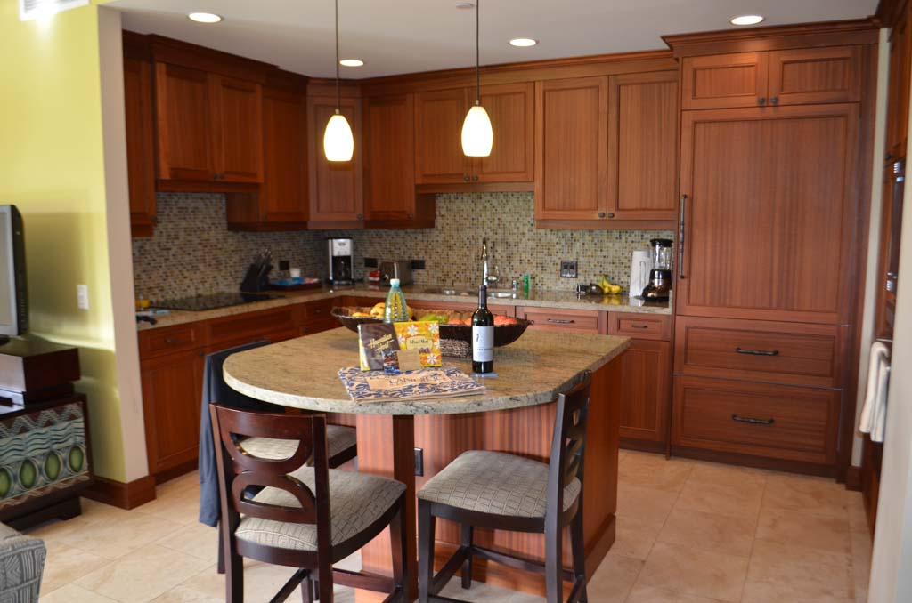 Large kitchen in the Koloa landing resort