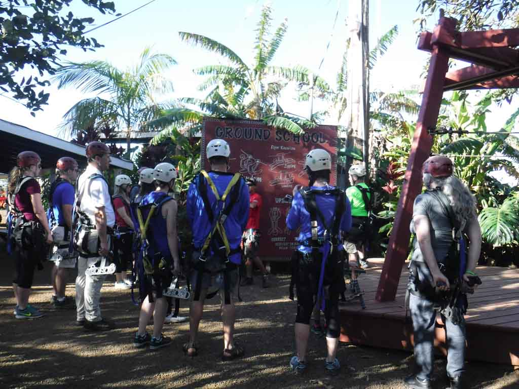 Kauai ziplining ground school