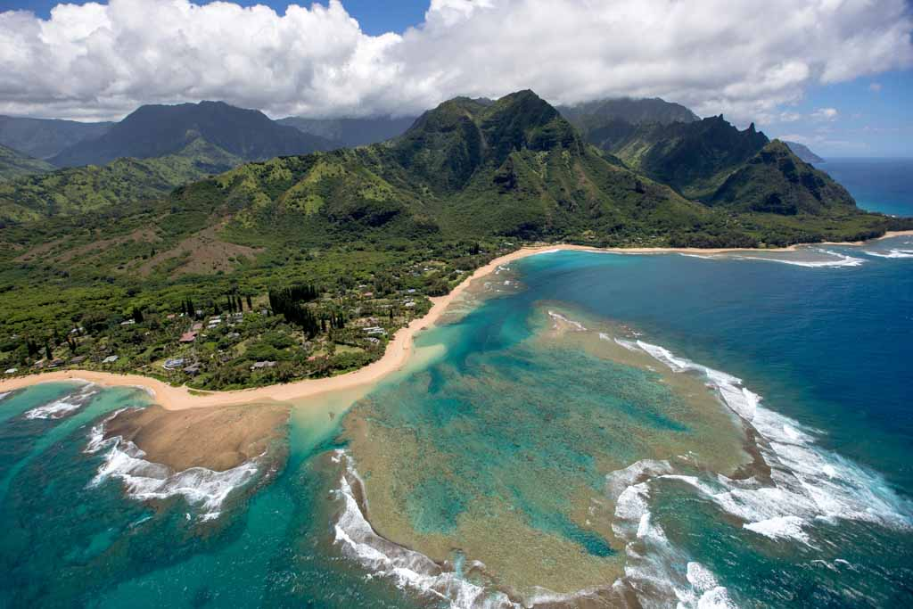 north coast of kauai from helicopter