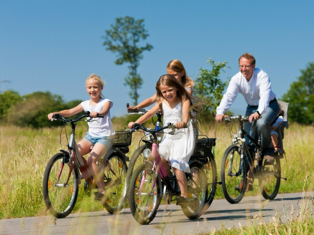 family biking for free things to do with kids spring break
