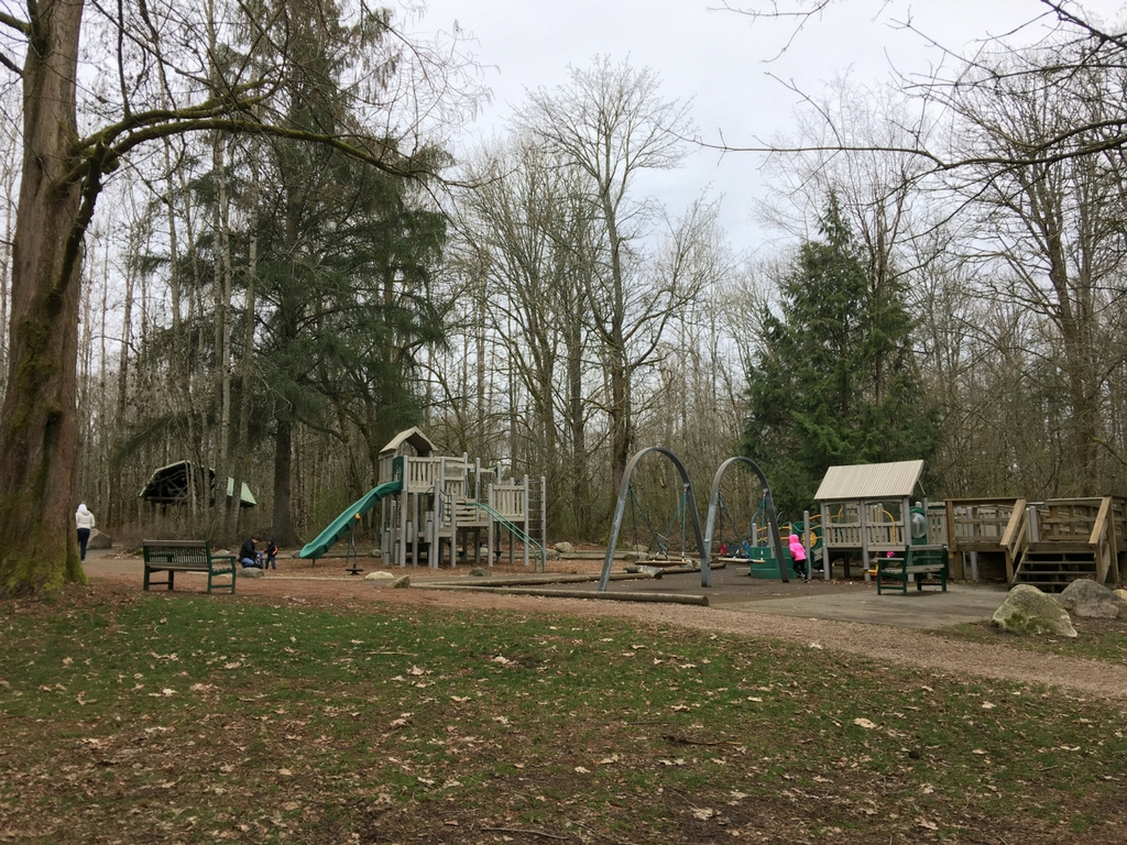 Playground at Redwood park in Surrey for our best playgrounds in lower mainland list