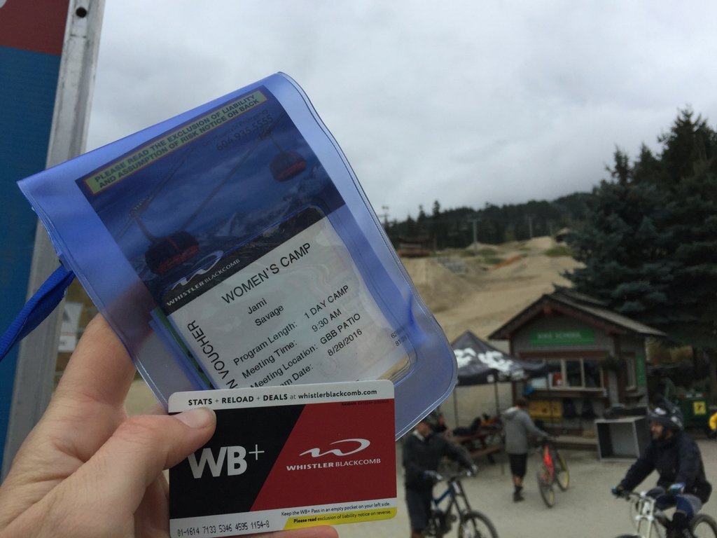 Lift ticket for womens mountain bike camp Whistler