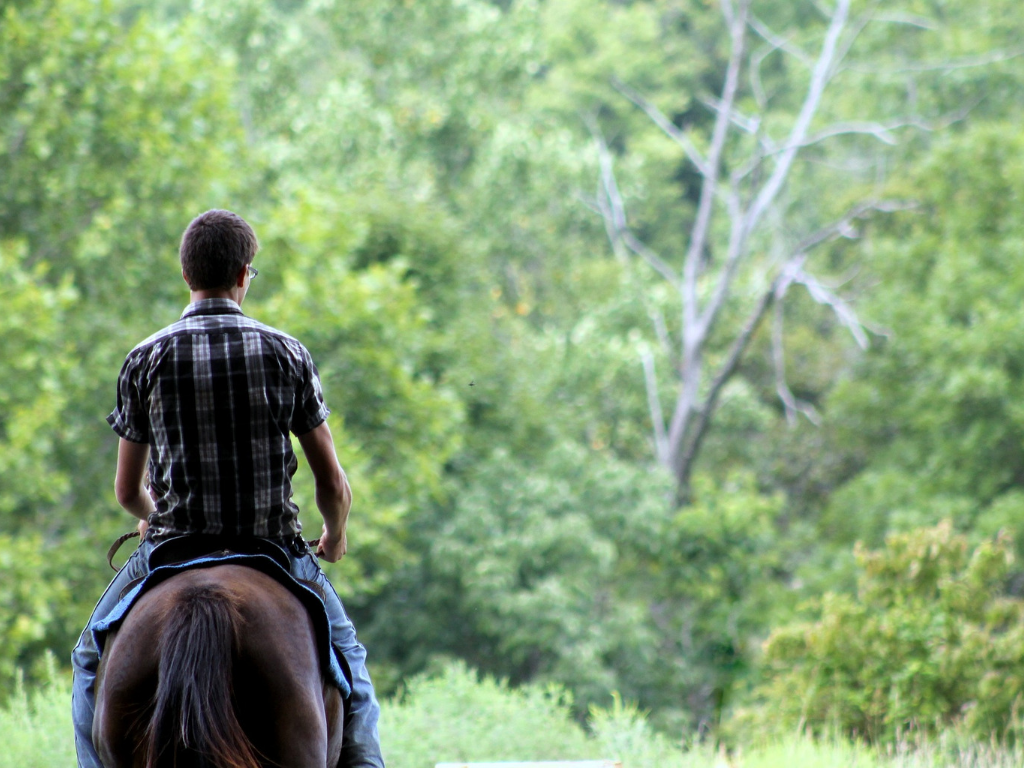Man horseback riding for fathers day gift guide