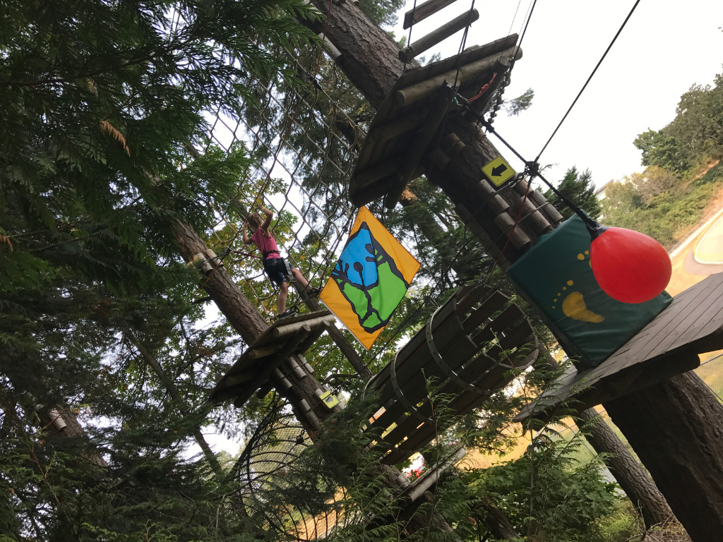 Girl at wildplay for fathers day gift guide