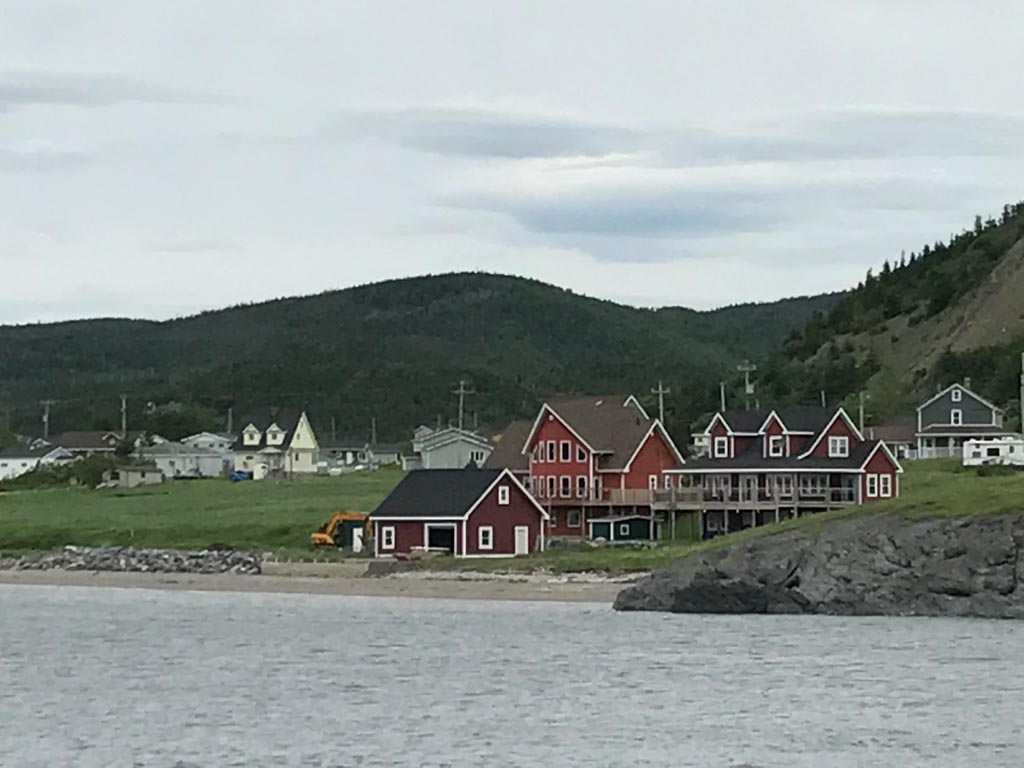 Small town in Bonne Bay seen from our Gros Morne boat tours adventure