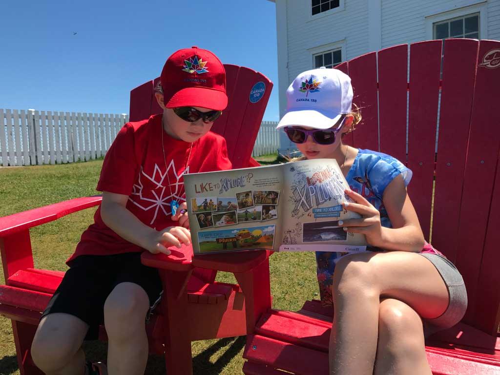 kids-doing-xplorers-program-in-cape-spear-national-park