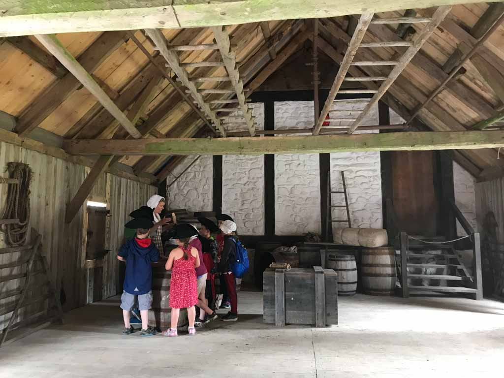 kids tour at fortress of louisbourg for the parks xplorers program