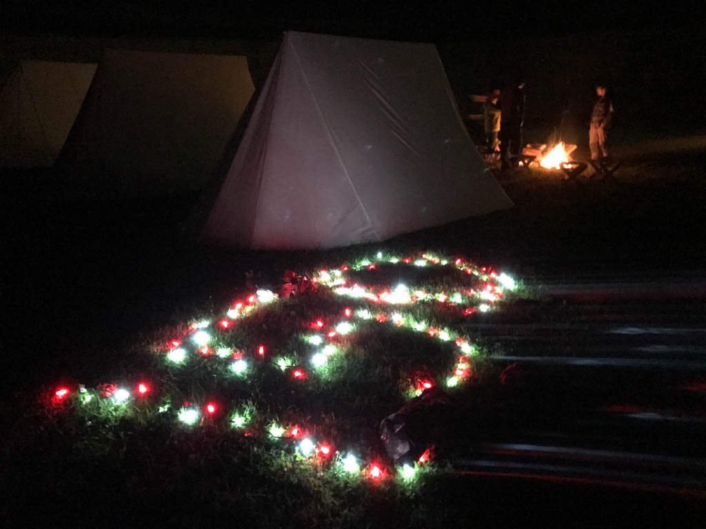 tents-with-lights-at-fortress-of-louisbourg