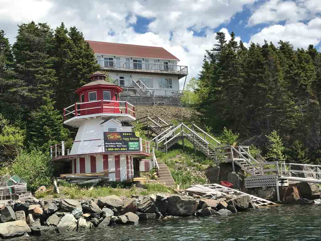 The Inn at Happy Adventure from our iceberg tours Newfoundland trip