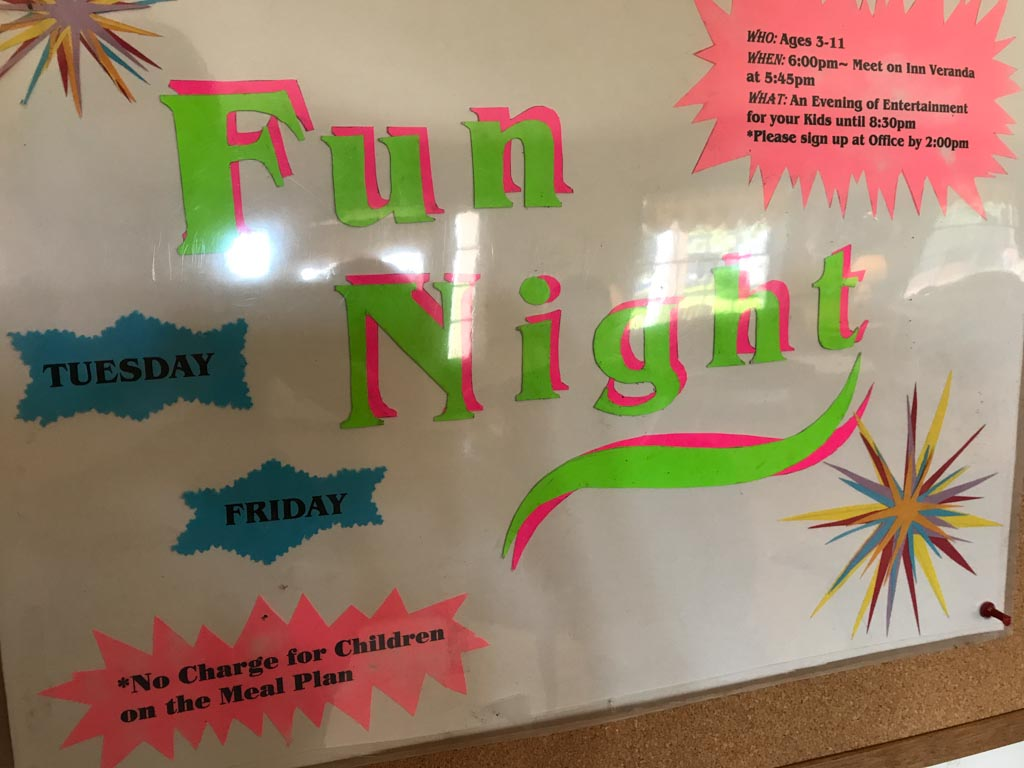 Kids fun night sign