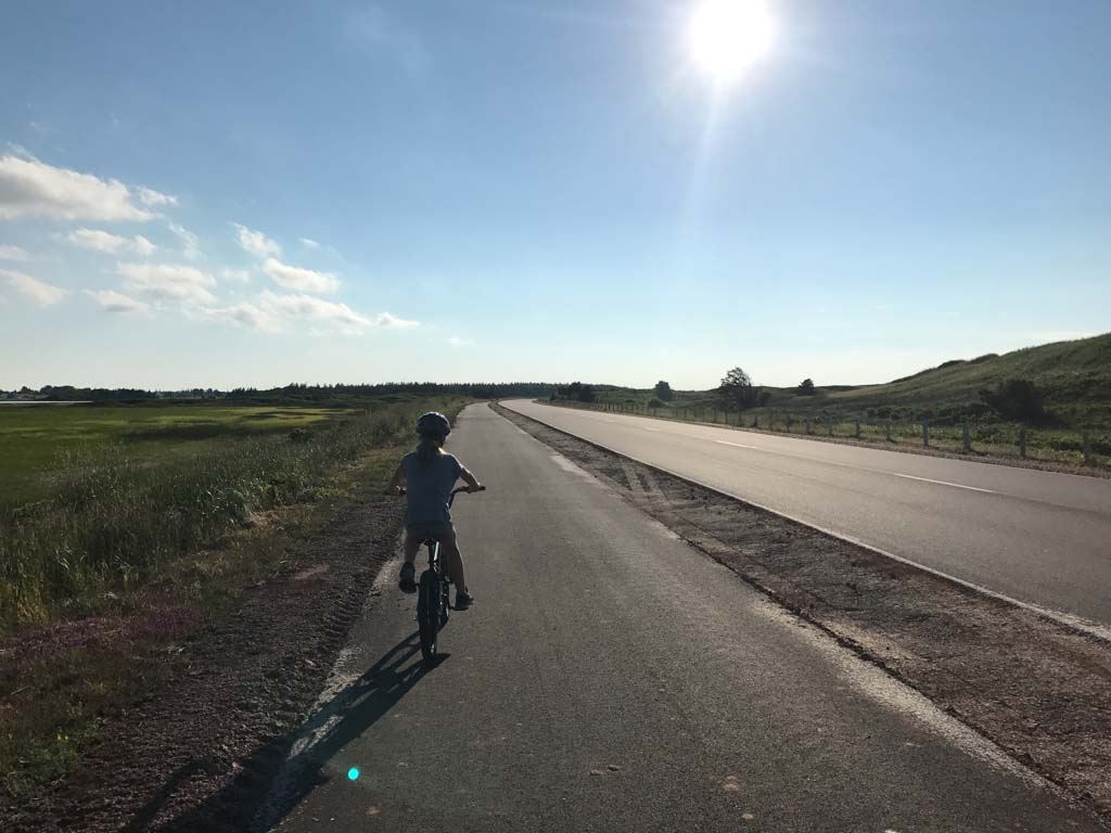 Girl biking at PEI