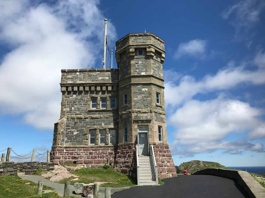 Castle at Signal Hill from our East Coast Canada road trip