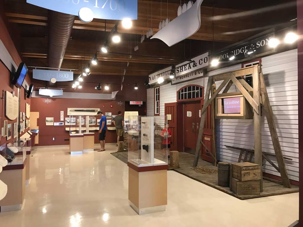 Inside the visitors centre at Signal Hill National Historic Site