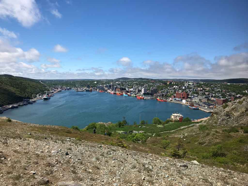 View of St. Johns Newfoundland