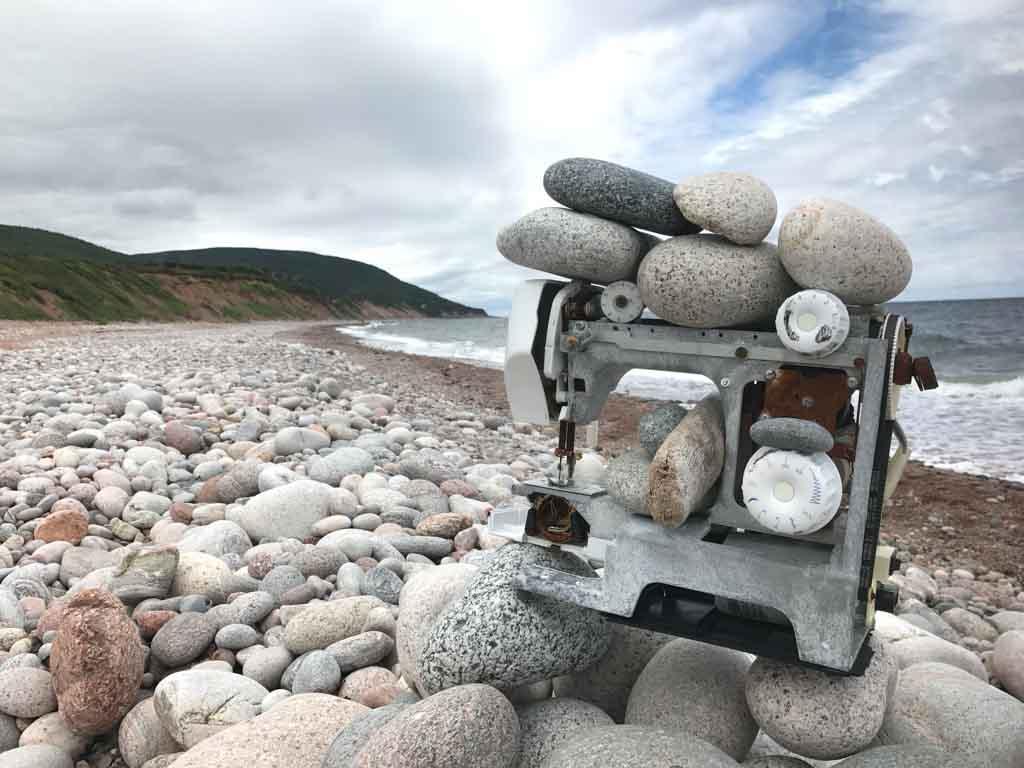 sewing-machine-on-beach