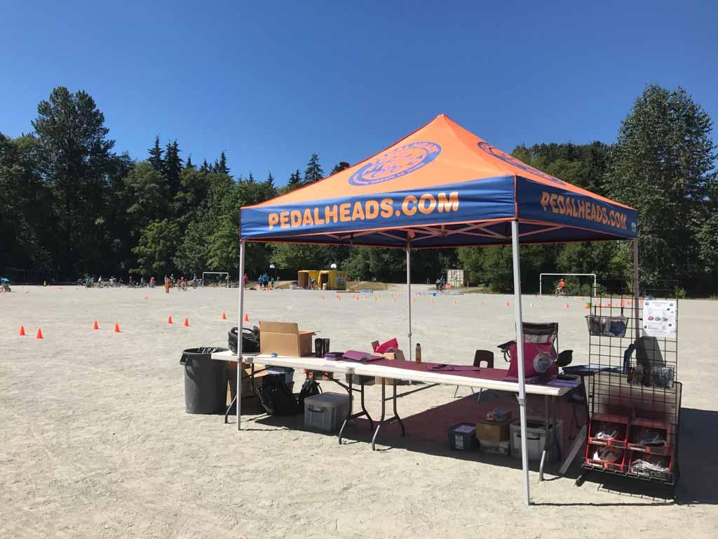 Pedalheads bike camp welcome tent