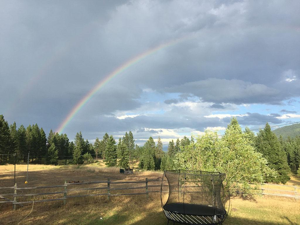 Rainbow at Keenan Family Farms