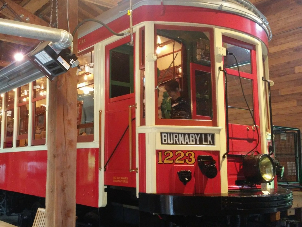 Streetcar at Burnaby Village Museum for Christmas Activities in Vancouver