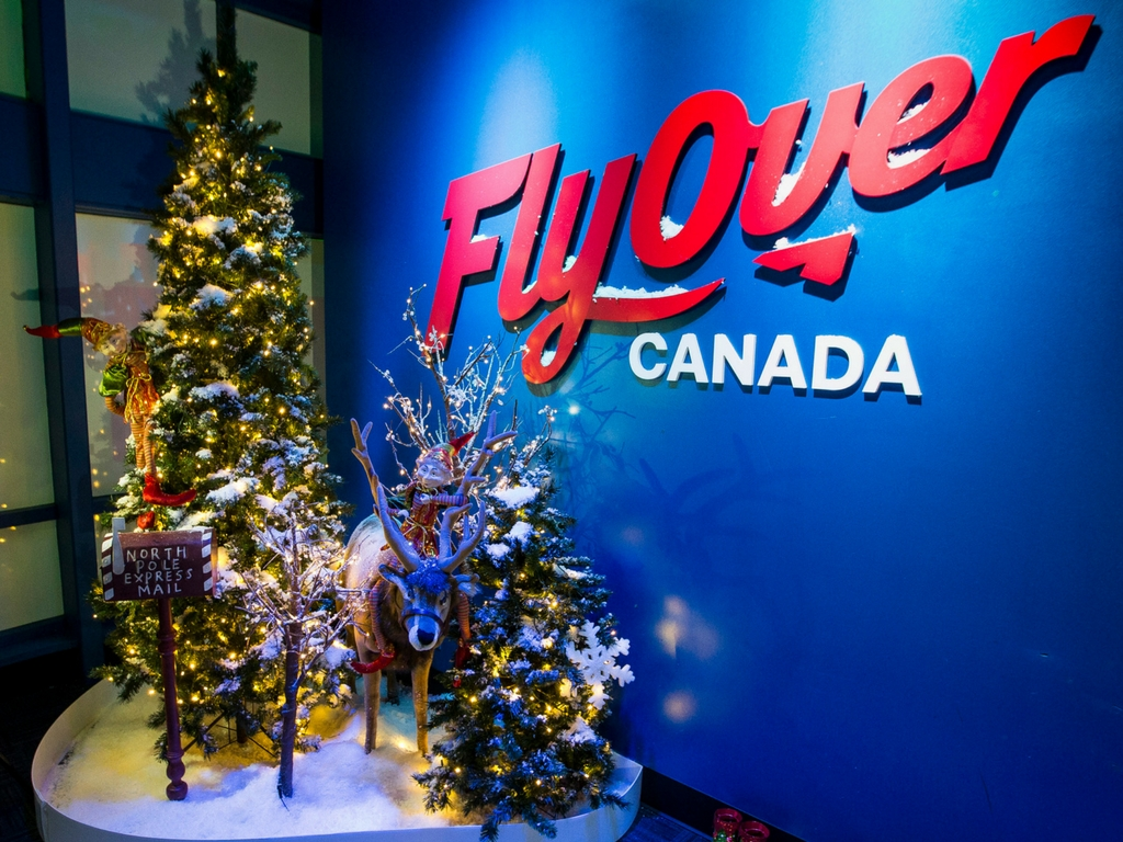 Flyover Canada for Christmas activities in Vancouver