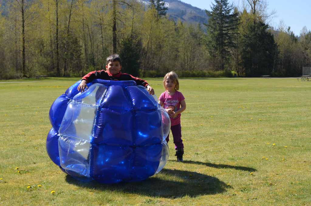 Inflatable hamster ball for best outdoor gifts for kids