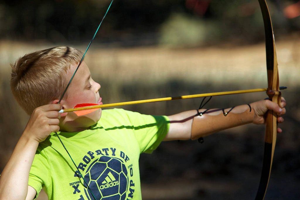 Child's bow and arrow for best outdoor gifts for kids
