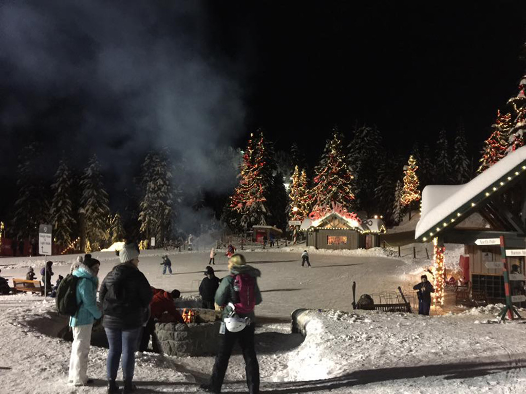 Grouse mountain skating rink for an adventure advent calendar