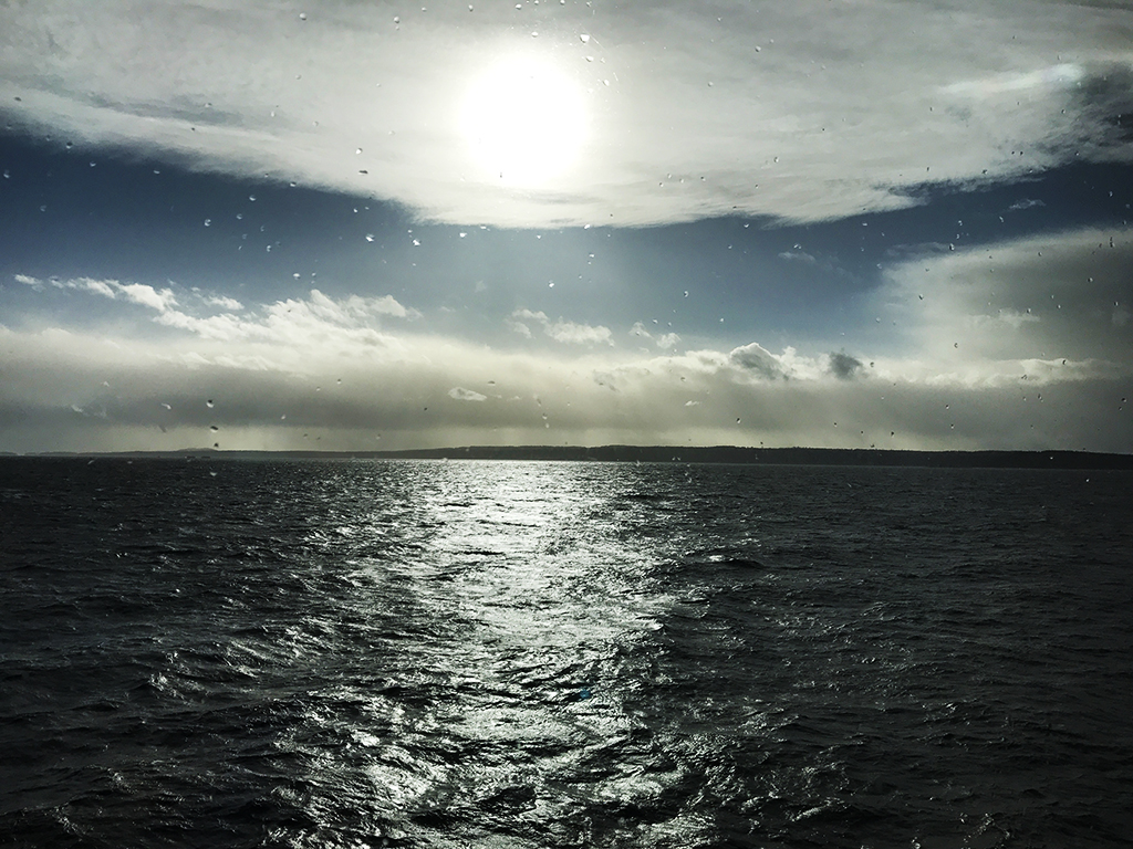 BC Ferry to Campbell River during a storm