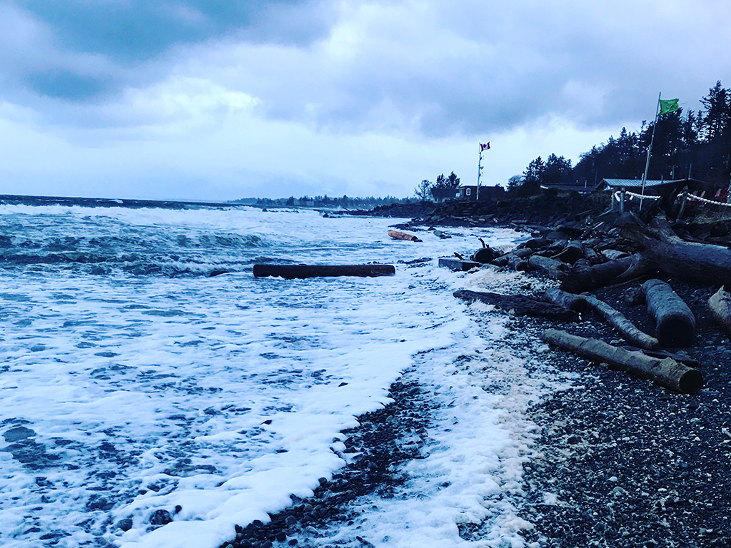 Storm Watching on Campbell River Beach