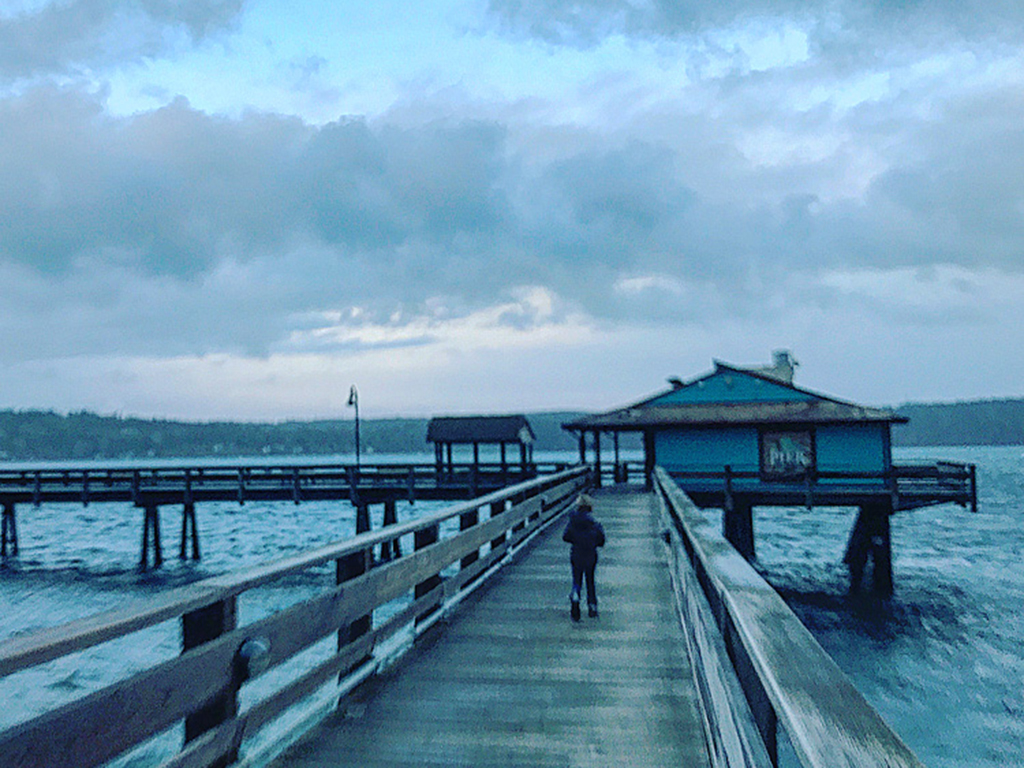 Storm Watching on Campbell River Pier