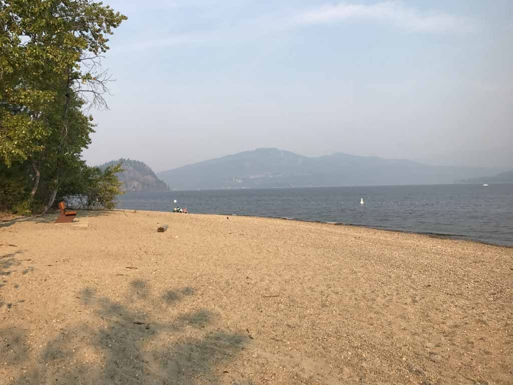 Beach at Shuswap Lake for family reunion sites in BC