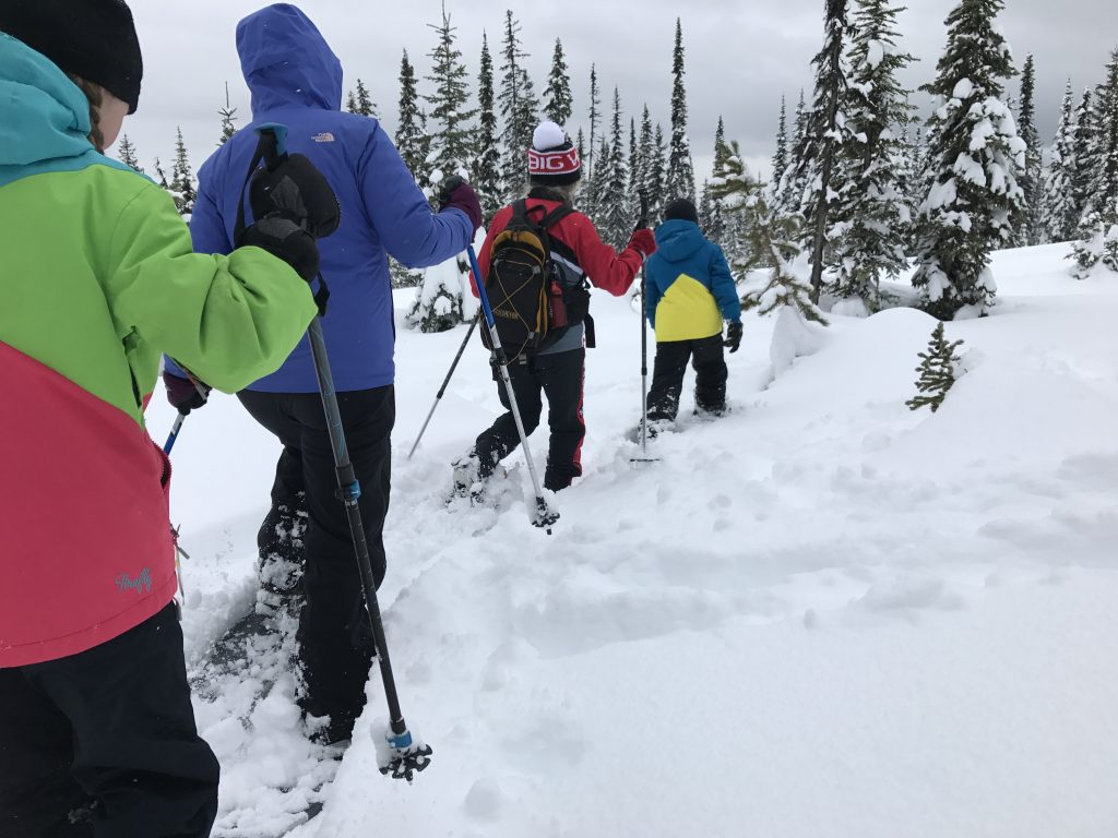 family-snowshoeing