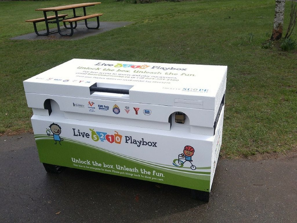 Playbox in Surrey park for Free Spring Break Activities in Vancouver