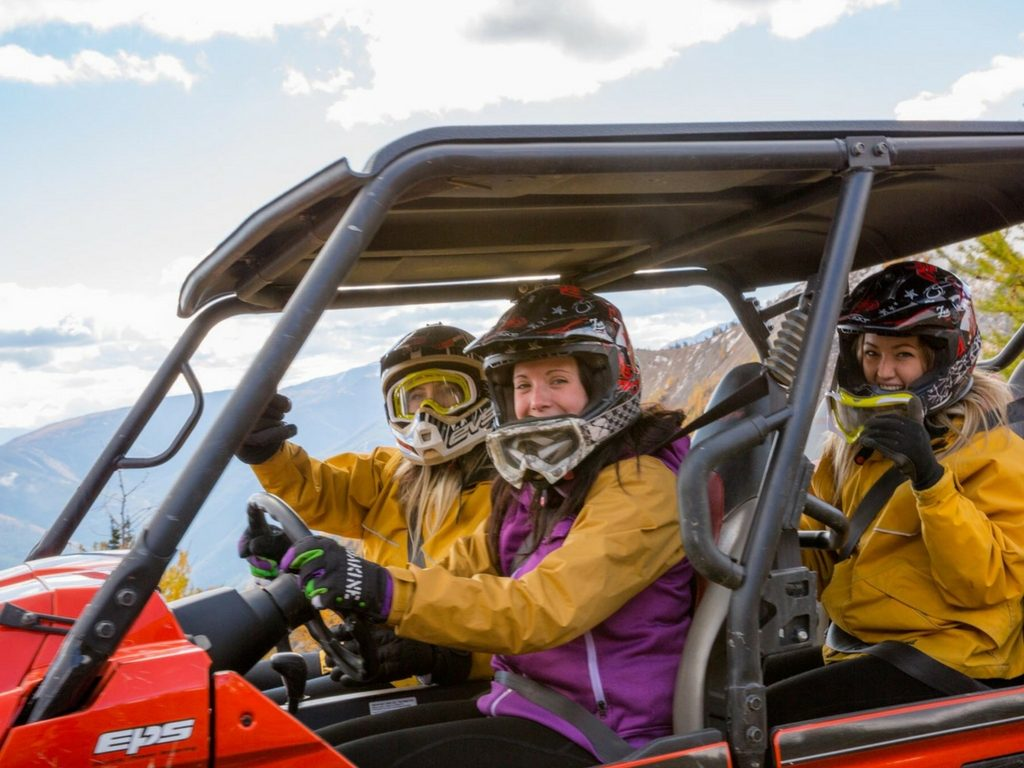 Women on ATV for Girls Weekend Getaway BC