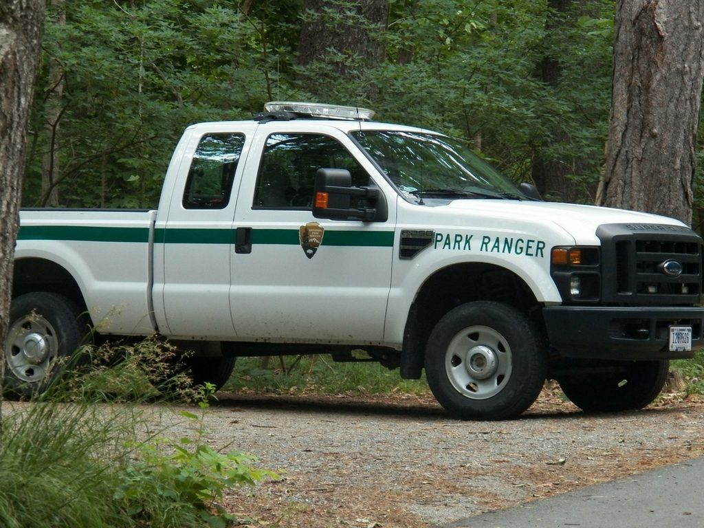 park-ranger-truck-wildlife-safety-while-camping